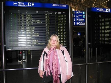 Vor dem Abflug in Frankfurt